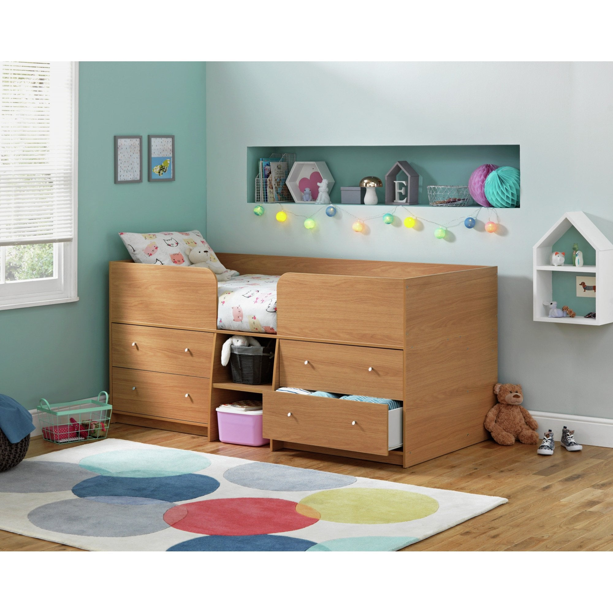 Picture of: Simply Beds Mannie Midsleeper Storage Cabin Bed Children S Beds From Simply Beds Uk